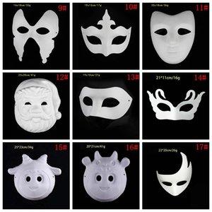 En Maskeler BH3980 C Ojqg Maske Cadılar Bayramı Beyaz Yüz Parti Zorro Cosplay Kelebek Masquerade Kağıt DBC Blank Maske Boyalı DIY Maske Hand taç