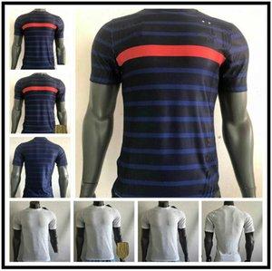Version du joueur 20 21 France Soccer Jersey Équipe nationale Pavard Varane Français 2020 2021 Hommes Football Uniform Player chemise Camiseta de futbol