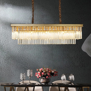 American light  crystal chandelier simple post-modern bar restaurant home living room bedroom exhibition hall led chandelier