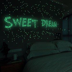 Round Dot Etoiles mur lumineux Stickers comme Star In The Night romantique pour Birthday Party maison art mur de la salle de décoration