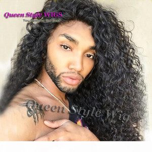 Wholesale Sexy Drag Queen Hairstyle Wig Synthetic Heat Resistant Kinky Curly Hair Lace Front Wigs for Drag Queen Male Daily Natural Wigs