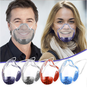 Transparent Lip Mask Anti-dust Clear Face Shield Black Cotton Visible Mask Designer Masks For Deaf Mute