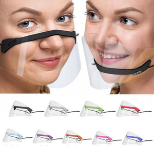 Transparent Lip Mask Anti-fog Clear Face Shield Visor Protection Face Mask PET Shield Visible Clear Creative Mask For Deaf Mute