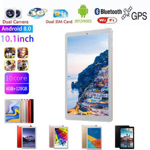 New Design 10 inch Tablet PC Android 9.0 Ultra Slim 6GB RAM 128GB ROM Quad Core 5.0MP Dual Camera WiFi Bluetooth Tablets 10.1