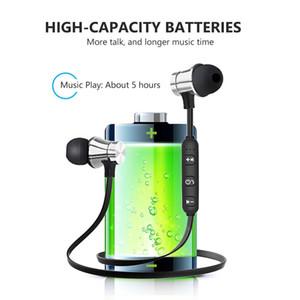 Шумоподавление проводных магнитных наушников в ушных наушниках наушники MIC V5.0 Bluetooth беспроводные наушники для IP8 8S MAX Samsung в розничной коробке