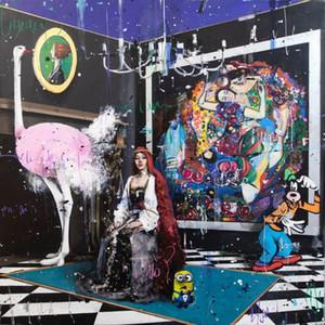 Angelo Accardi Eu sou um pouco confuso Home Decor Artesanato / HD impressão pintura a óleo sobre tela Wall Art Canvas Pictures 201003