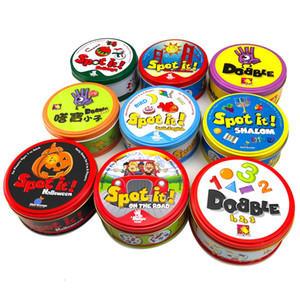 spot it and dobble card game table Board Game For Dobbles Kids Spot Cards It Go Camping Metal Tin Box SHALOM Basic English toys