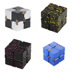 JCamN Pan Aluminum Alloy Top Fingertip Spinning Gyroscope Novelty Infinite Cube 2x2 StickerSmooth cube Solid Decompression Color rubik's