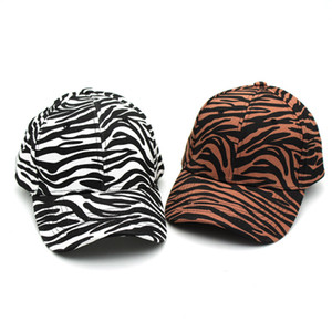 Zebra Stripe Ponytail Baseball Caps Washed Trucker Hats Pony Cap Outdoor Topee Caps Party Hats Favor sea shipping LLA261