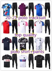 2020 2021 Paris Kurzarm Polohemd Trainingshosen Fußballtrainingsanzug survêtement 20 21 Paris Jordam Fußball Mbappe erwachsener Trainingsanzug