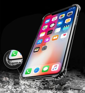 For iPhone 12 11 Pro MAX XS XR X 12mini 8 Plus Soft Transparent TPU Case For Samsung Note20 S20 Plus Shockproof Clear Protective Cover