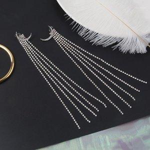 Dominat 2020 Femmes Tempéramment long métal Tassel Fine Cristal Boucles d'oreilles Corean Fashion Joker Design NEW1