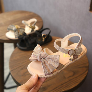 Summer 2020 New Sandals Girl Sequin Shoes Magic Stick Three-color Butterfly Knot Princess Shoes Lady Summer Baby Sandals