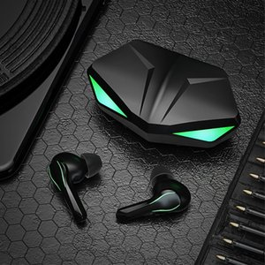 TWS Gaming Headset Wireless Bluetooth Earphones Earbuds Super Bass With LED Light Low Latency Sound Positioning For Smart phones