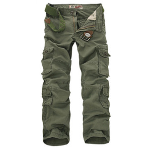 Fashion Military Cargo Pants Men Loose Baggy Tactical Trousers Oustdoor Casual Cotton Cargo Pants Men Multi Pockets Big size 200930