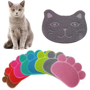 Paw Print Dog Cat Litter Mat Puppy Kitty Dish Feeding Bowl Placemat Tray Tidy Easy Cleaning Sleeping Pad w-00549