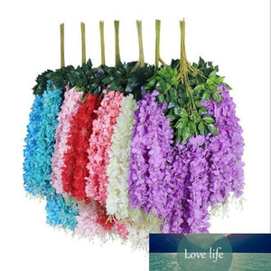 110cm dense wisteria flower artificial silk flower vine elegant wisteria vine rattan for wedding party decoratio