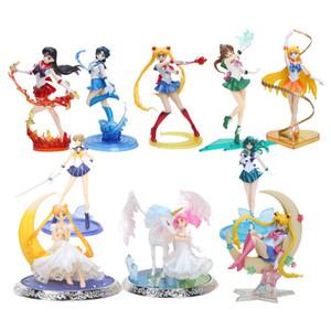 8'' 20cm super sailor moon figure toys anime Sailor mars Jupiter Venus 1 8 PVC Action Figure Collectible Model toys LY191210