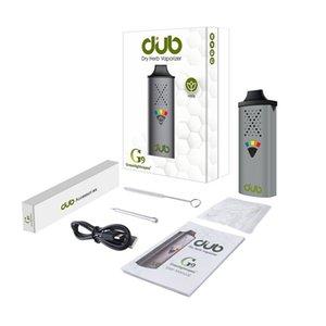 Original G9 GreenlightVapes Dub Vaporisateur à herbe sèche 1100mAh avec buse d'aspiration magnétique jamais chaude Chambre cramique de 1,3 ml