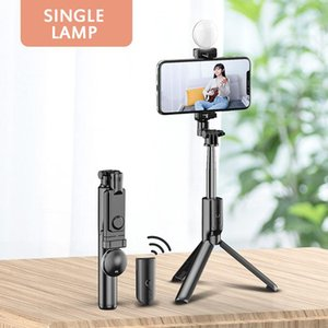 Wireless Bluetooth Selfie Stick Fill Light Ring Tripod Stand Extendable Remote Shutter Phone Mount Monopod Tripod For