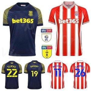 Stoke 20 21 11 MCCLEAN football Jersey 22 CLUCAS 9 VOKES 14 SMITH 4 ALLEN 2 EDWARDS 26 CAMPBELL football Kits chemise
