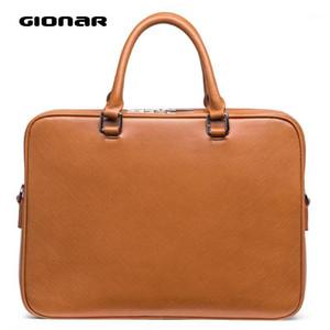 Краткий чехол GISAR Mens Case Messenger Bag Slim Real Free Leather 15-дюймовый ноутбук Бизнес-портфель таблетки сумка черный коричневый серый Blue1