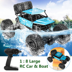 42cm RC Car & Boat Truck 2.4G Radio Control 4WD Off-road Electric Vehicle Monster Remote Control Car Gift Toys Children Boys