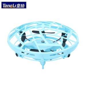 Mini Helicopter RC UFO Drone Aircraft Hand Sensing Infrared RC Helicopter Small Drone Quadcopter Electric Induction Kids Toys