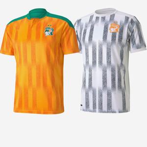 2020 2021 Avorio Costa Soccer Jerseys 11 Drogba 8 Kalou Gervinho Tiote Toure Yaya Casa personalizzata Casa Away Giallo Verde Costa Avorio Camicia da calcio