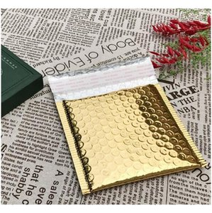 50pcs Cd cvd Packaging Shipping Bubble Mailers Gold Paper Padded Envelopes Gift Bag Bubble Mailing Envelo jllqsY lucky2005