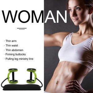 معدات التدريب ممارسة العضلات السلطة لفة البطن و كامل الجسم تجريب مزدوجة عجلة الذراع الخصر الساق المدرب المنزل رياضة اللياقة 1
