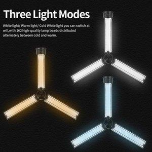 Mamen KM-03PRO مصغرة ضوء الفيديو المحمولة طوي يده ملء ضوء مشاهد متعددة تصميم مبتكرة التصوير الإضاءة