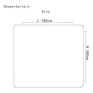 4 pz Elegant Flowers Pattern Shower Tenda per toilette Tappetino Tappeto antiscivolo Set Bagno Impermeabile Tenda da bagno impermeabile con 12 ganci HHD4658