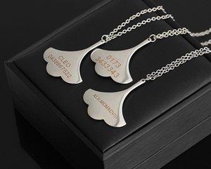 Collares Declaración de Nuevo Diseño Collar de la hoja del Ginkgo Biloba Plata Collar Gargantilla Collares maravillosamente