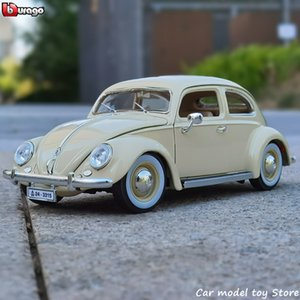 Bburago 1 18 1955 Volkswagen Beetle Alloy Retro Classic Model Car Decoration Collection gift