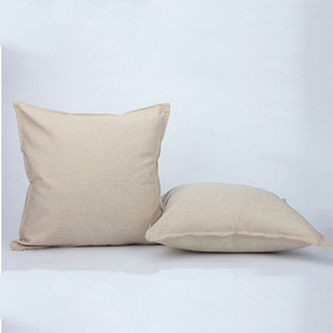 45 * 45 см Сублимационные пустые подушки Карманные хлопковые льняные Сплошные цветные подушки подушки DIY Подушки подушки подушки VT1917