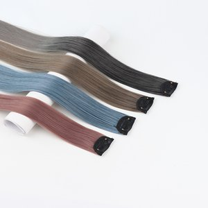 Hanging ear dye color hair piece female long straight hair highlighting invisible seamless one piece hair extension piece