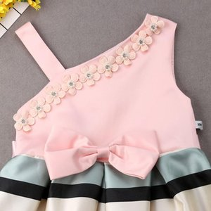 Pudcoco 3-9y Princess Kid Girls Dresses One Shoulder Bow Tutu Dress Kid Dress For Girl Party Elegant Wedding Dress Girl jllqvg