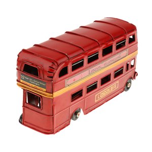 Kids Metal Double-deck London Bus Model Die-cast Vehicles Handmade Craft