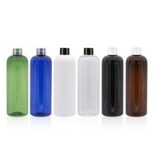 Пустой Перезаправляемые Пластиковые завинчивающейся крышкой бутылки с белым прозрачный черный LIDS 500мл большого размера ПЭТ Косметические бутылки шампуня