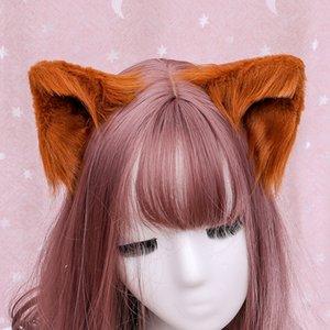 Hair accessories plush hand made simulation animal ear Lolita cute headdress hairpin