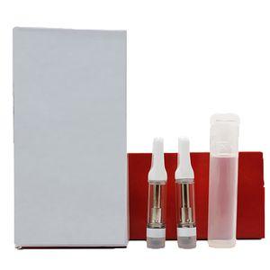 Keramische VAPE-Kassetten 0,8 ml weiße Spitzenwagen Kinderfeste PVC-Röhrchen Verpackung Leeres Öl Vape-Stift OEM-benutzerdefinierte Logo Einweg-E-Zigaretten