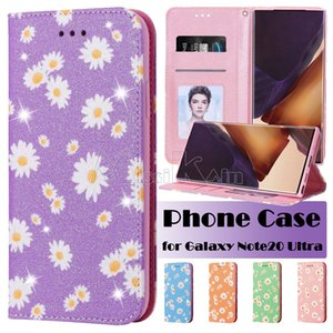 Wallet Phone Case for Samsung Galaxy Note20 S20 Ultra Note10 S20 S10 Plus iPhone 12 Pro Max Chrysanthemum Printing Magnetic Attraction Case