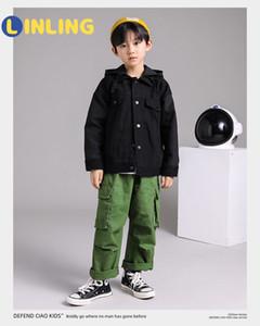 Linling Casual Childrenback Ropa Muchacho Coreano Fashions Chaquetas Otoño Streetwear Cortavientos Harajuku Abrigos P260 201104