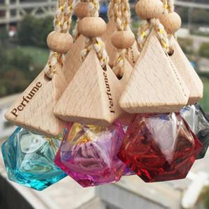 fashion Car Perfume Bottle Pendant Essential Oil Diffuser 9 Colors Bag Clothes Ornaments Air Freshener Pendant Empty Glass Bottle