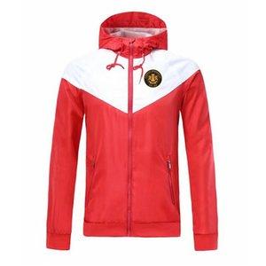 Carrick Rangers rüzgarlık fermuar ceket Kapşonlu futbol WINDBREAKER Futbol ceket Spor tam fermuarlı ceket Erkekler Ceketler