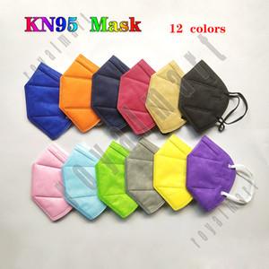 KN95 Gesichtsmaske ohne Ventil 95% Filter FFP2 NR Bunte Maske Aktivierte Kohlenstoff Atmungsaktive 5 Ebenen Gesichtsmaske
