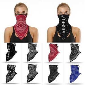 Triangle Bandana Women Breathable Face Scarf Fashion Print Hanging Ear Tube Scarf Outdoor Cycling Fishing Hiking Neckerchief sqcXBt