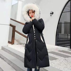 Winterjacke Frauen neue koreanische halblangen Mantel Frauen unten Baumwolljacke Art und Weise dicker loser Parka Frau TYJTJY 201019