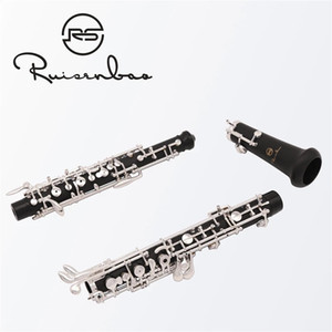 Professional Composite Ebony Wooden Oboe C Key Silver Plated With Case